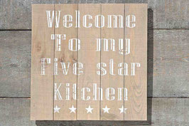 Schild 5 Star Kitchen