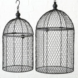 Deko Vogelkäfig schwarz