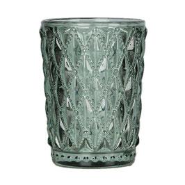 Blossom Glas Windlicht grün S