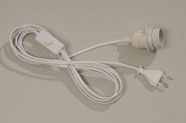 Lampen-Kabel mit Fassung, Stecker und Schalter E27