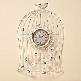 Grosse Wand-Uhr Shabby Birds
