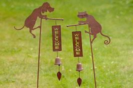 Gartenstab Hund Katze
