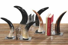Horn-Buchstützen Set