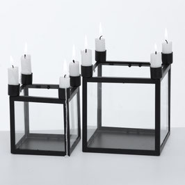 Kerzenleuchter Kubus Kiro schwarz 4er