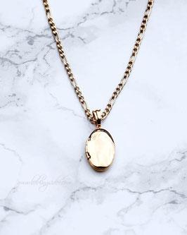 Kette Medaillon Gold o. Silber