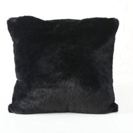 Kissen Cosy Kunstfell schwarz