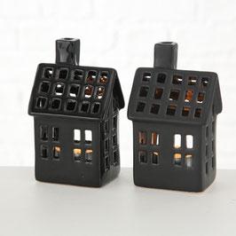 Windlicht Schwarzes Haus