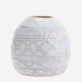 Madam Stoltz Mini Boho Vase weiss