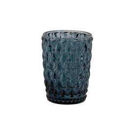 Blossom Glas Windlicht dunkelblau S