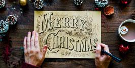 Individuelle Weihnachts Klappkarte zum Festpreis