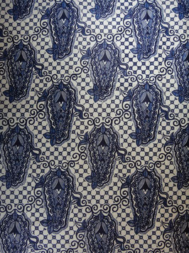 # 19 -Tissu WAX pagne africain 182X118CM -  100% Coton- African Print