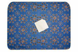 Nappe de table rectangulaire en tissu wax bleu 170X220 CM
