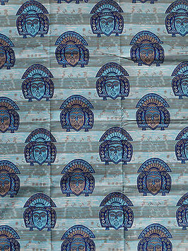 # 4 - Tissu WAX pagne africain 182X118CM -  100% Coton- African Print