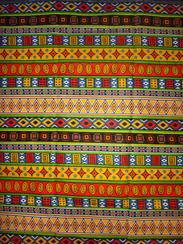 # 26 - Tissu WAX pagne africain 182X118CM -  100% Coton- African Print
