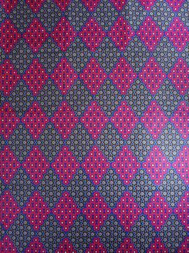 # 2 - Tissu WAX pagne africain 182X118CM -  100% Coton- African Print -losange