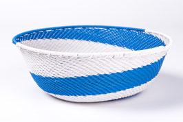 Paniers en fil de téléphone - Bleu Blanc