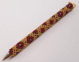 Stylo décoré en perle de verre