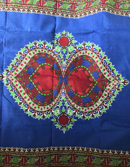 # 48 - Tissu WAX pagne africain 182X118CM -  100% Coton- African Print
