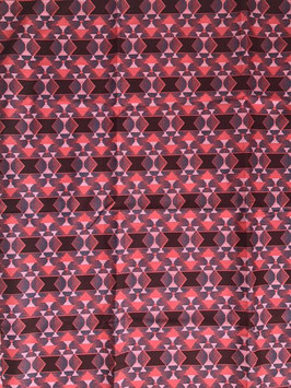 # 29 - Tissu WAX pagne africain 182X118CM -  100% Coton- African Print - Rose