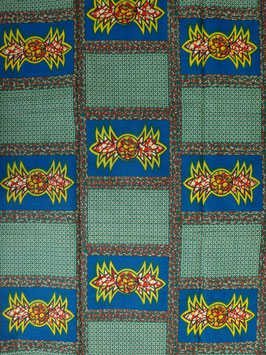 # 22 -Tissu WAX pagne africain 182X118CM -  100% Coton- African Print