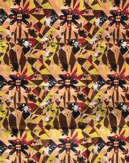 # 40 - Tissu WAX pagne africain 182X118CM -  100% Coton- African Print