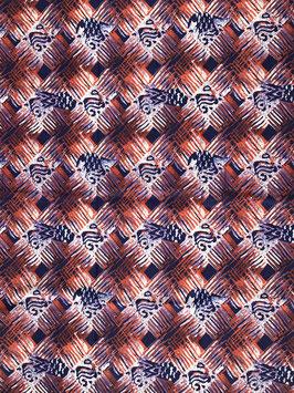 # 47 - Tissu WAX pagne africain 182X118CM -  100% Coton- African Print Fête des mères