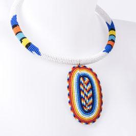 Collier de perles blanc Africacolors