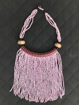 Collier rivière de perles - couleur rose