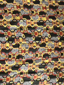 # 42 - Tissu WAX pagne africain 182X118CM -  100% Coton- African Print