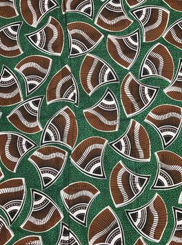 # 44 - Tissu WAX pagne africain 182X118CM -  100% Coton- African Print