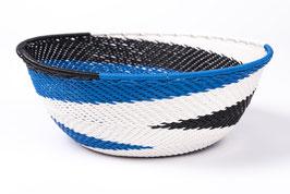 Paniers en fil de téléphone - Small -blanc bleu noir