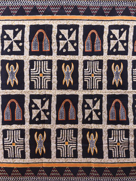 # 54 - Tissu WAX pagne africain 182X118CM -  100% Coton- African Print