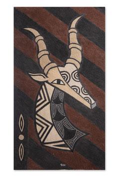 """Toile à base d'écorce d'arbre""""OBOM"""" 70X39CM - Antilope"""