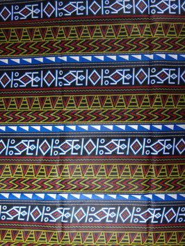 # 13 -Tissu WAX pagne africain 182X118CM -  100% Coton- African Print