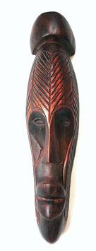 Masque mural en bois rouge