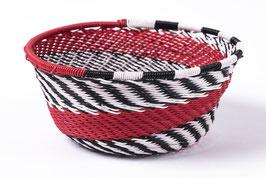 Paniers en fil de téléphone - Mini - Noir Blanc Rouge