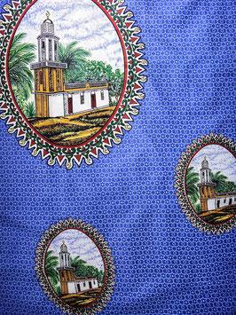 # 23 -Tissu WAX pagne africain 182X118CM -  100% Coton- African Print