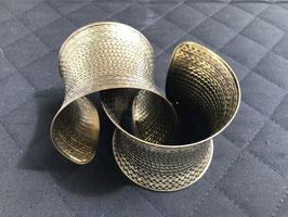 Bracelet manchette métal bronze