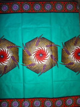 # 27 - Tissu WAX pagne africain 182X118CM -  100% Coton- African Print