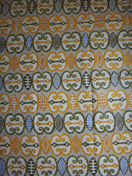 # 16 -Tissu WAX pagne africain 182X118CM -  100% Coton- African Print