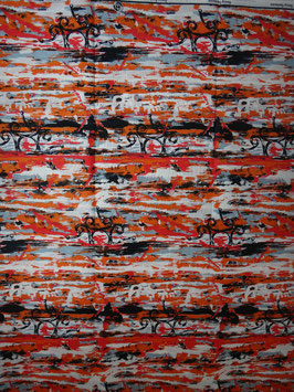 # 15 -Tissu WAX pagne africain 182X118CM -  100% Coton- African Print