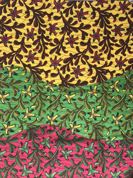 # 30 - Tissu WAX pagne africain 182X118CM -  100% Coton- African Print - Africa colors