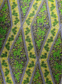 # 25 -Tissu WAX pagne africain 182X118CM -  100% Coton- African Print - Jaune