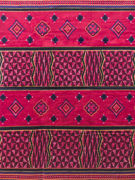 # 50 - Tissu WAX pagne africain 182X118CM -  100% Coton- African Print - ROSE