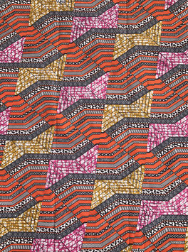 # 45 - Tissu WAX pagne africain 182X118CM -  100% Coton- African Print