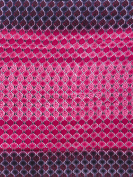 # 55 - Tissu WAX pagne africain 182X118CM -  100% Coton- African Print ROSE