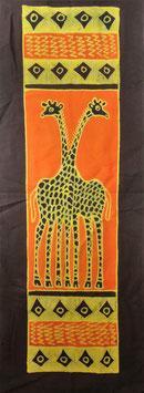 Panneau art batik Sud Africain - Girafe
