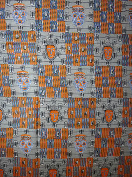 # 6 - Tissu WAX pagne africain 182X118CM -  100% Coton- African Print