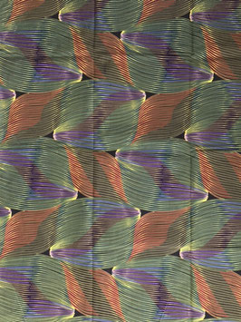 # 32 - Tissu WAX pagne africain 182X118CM -  100% Coton- African Print - fleurs rose