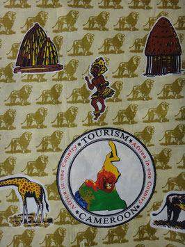 # 17 -Tissu WAX pagne africain 182X118CM -  100% Coton- African Print